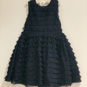 Girls Navy Tulle Occasion Dress